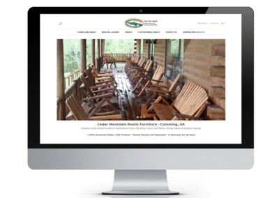 Cedar Mountain Rustic Furniture – eCommerce Store