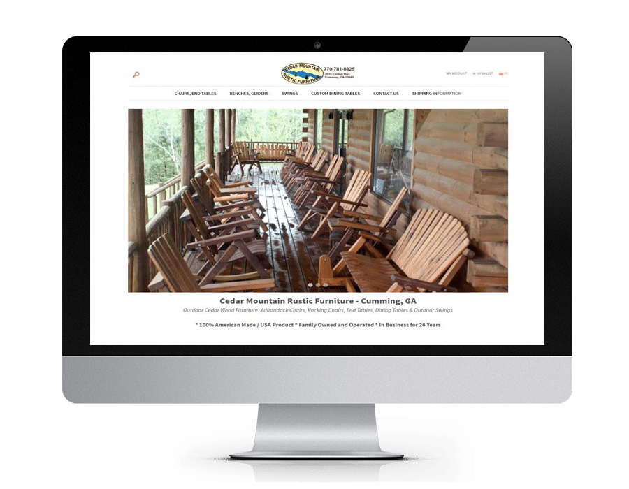 Furniture eCommerce website - Gainesville GA - North Georgia