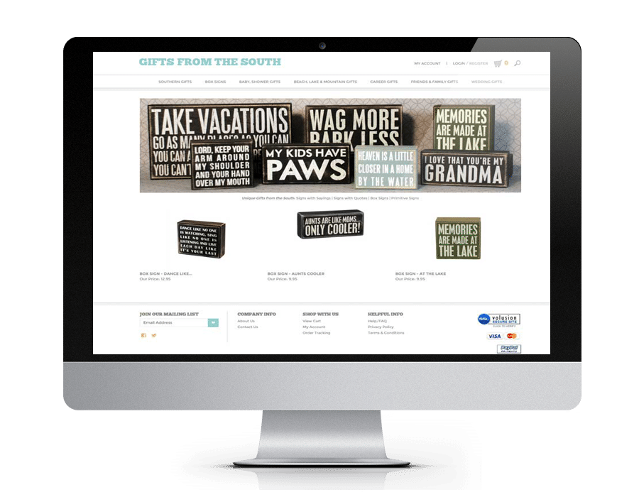 eCommerce Website - Gainesville Web Design - Gainesville GA - North GA