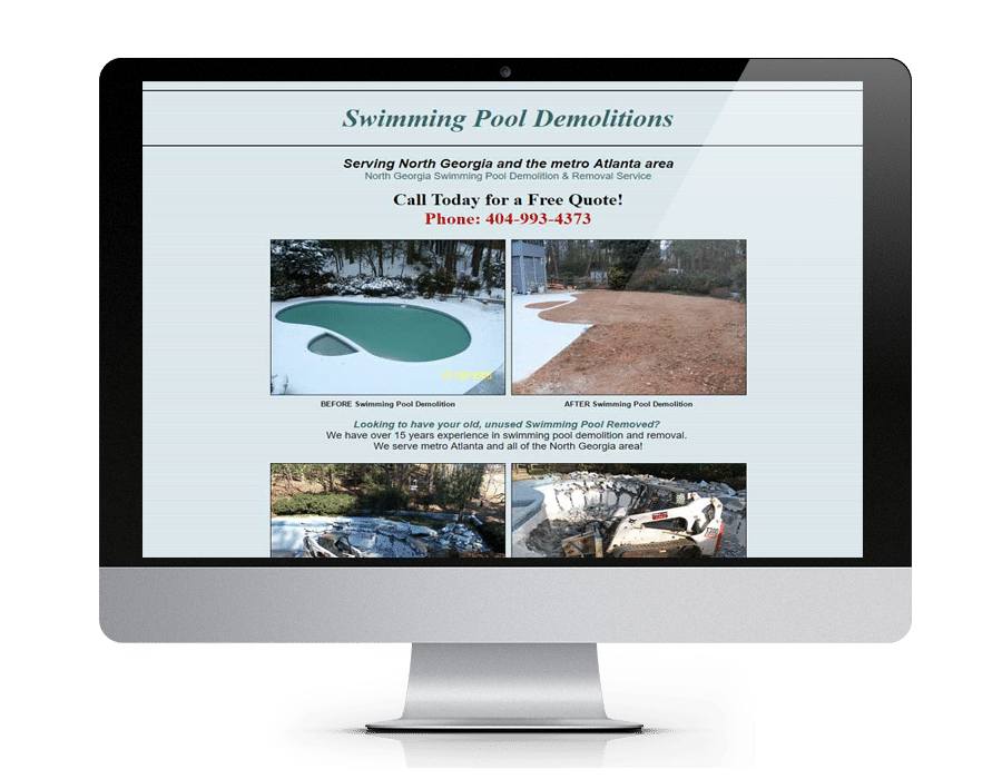 Swimming Pool Demolition Gainesville Web Design