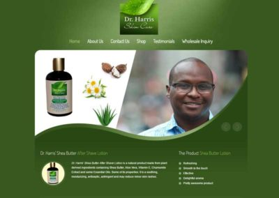 Harris Cosmetics | Web Design Portfolio - Gainesville Web Design