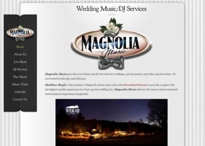 Magnolia Music | Web Design Portfolio - Gainesville Web Design