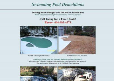 Pool Demolitions | Web Design Portfolio - Gainesville Web Design