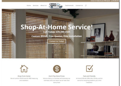 Website Design for All Kinds of Blinds - Braselton, GA