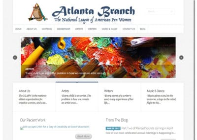Web Design for Atlanta Pen Women - Atlanta, GA