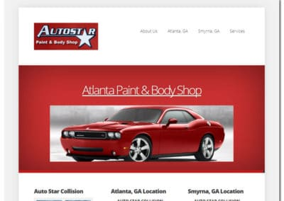 Web Design for Auto Star Collision - Atlanta, GA