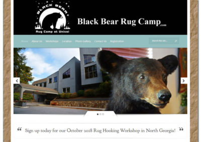Web Design for Black Bear Rug Camp - Gainesville, GA