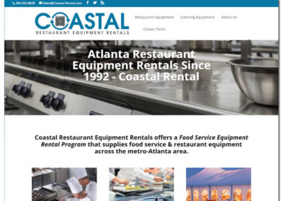 Web Design for Coastal Restaurant Equipment Rental | Norcross, GA