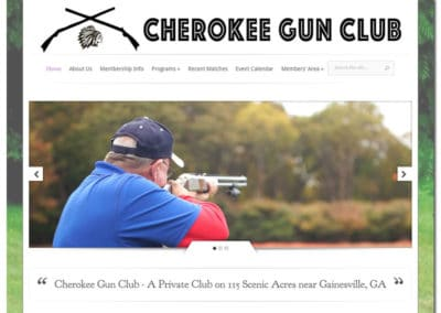 Website Design for Cherokee Gun Club - Gainesville, GA