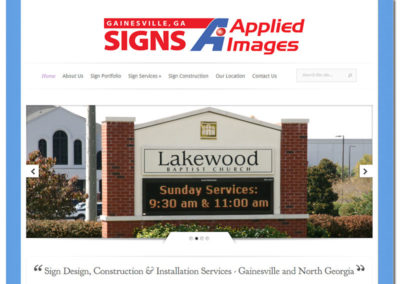 Website Design for Gainesville Ga Signs | Gainesville, GA