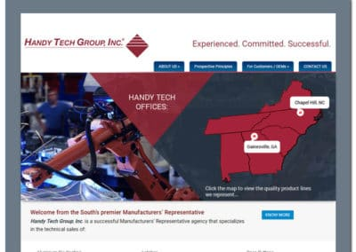 Web Design for The Handy Tech Group - Gainesville, GA