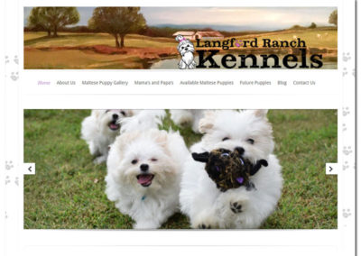 Web Design for Langford Ranch Kennels - Maysville, GA