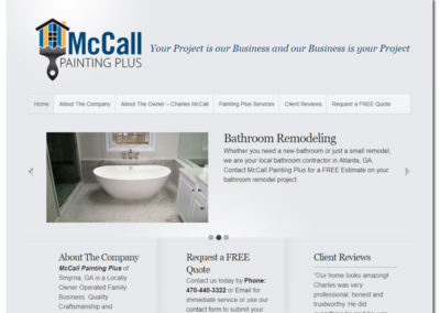 Web Design for McCall Painting Plus - Marietta, GA