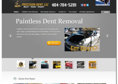 Web Design for Precision Dent - Lawrenceville, GA