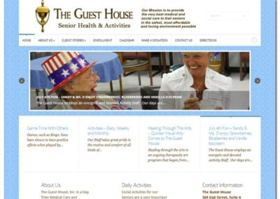 Web Design for The Guest House - Gainesville, GA