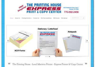 Web Design for The Printing House - Marietta, GA